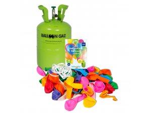 HELIUM 30 BALÓNKŮ BALLOON GAZ