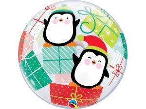 "22"" bublina - Tučňáci a dárky"