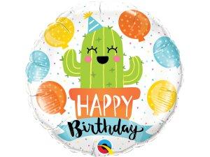 "18"" fóliový balónek - Narozeninový Kaktus"