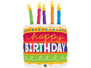 """35"""" fóliový balónek - Narozeninový dort"""