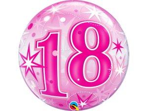"""22"""" bublina - Růžové narozeniny 18"""