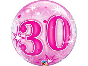"""22"""" bublina - Růžové narozeniny 30"""