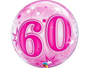 """22"""" bublina - Růžové narozeniny 60"""