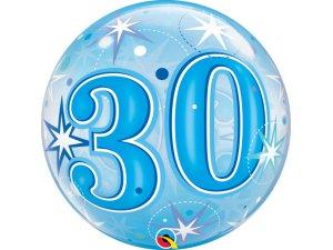 """22"""" bublina - Modré narozeniny 30"""