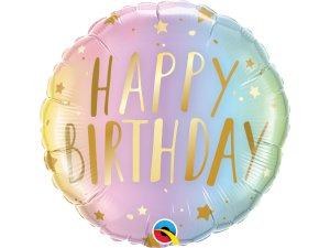 """18"""" balónek - Pastelové hvězdné narozeniny"""