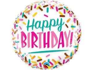 """18"""" balónek - Posypané narozeniny"""