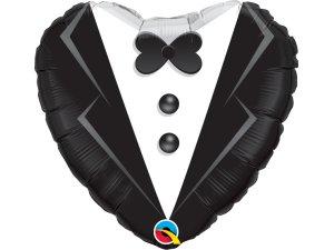 """18"""" balónek srdce - Svatební oblek"""