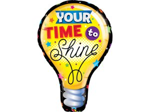 "40"" fóliový balónek - Žárovka YOUR TIME TO SHINE"