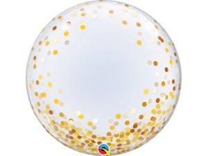 """24"""" DECO bublina - Zlaté konfety"""