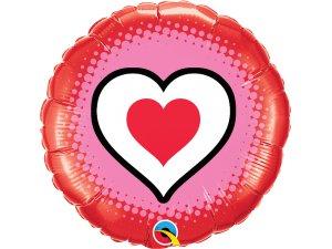 """18"""" balónek kruh - Pouze srdce"""