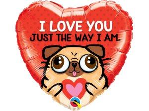 "18"" balónek srdce - I love you just the way I am"
