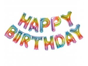 "Balónky fóliové set ""Happy Birthday"""