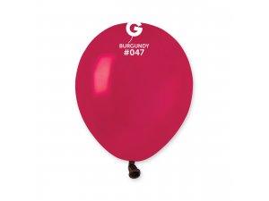 "Balónek 13cm/5"" #047 burgundy"