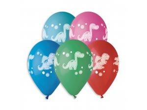 Balónek pastel 30 cm DINO 637 potisk (100ks/bal)