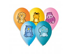 Balónek pastel 30 cm ZVÍŘATA 452 potisk (100ks/bal)