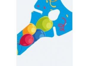 Tyčka na balónky papírová modrá