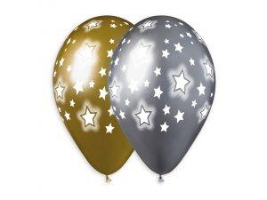 """Balónek 33cm/13"""" Vesmírné hvězdy"""
