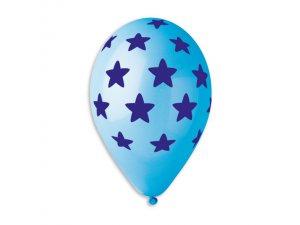 Balónek pastel 30 cm Hvězdy potisk #001/#009