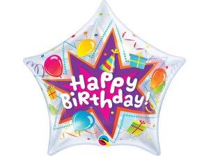 """22"""" bublina hvězda - Balónkové narozeniny"""