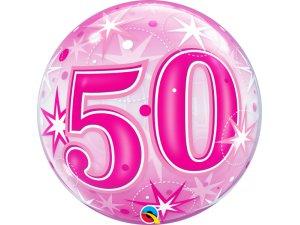 """22"""" bublina - Růžové narozeniny 50"""