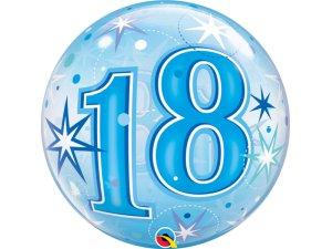 """22"""" bublina - Modré narozeniny 18"""