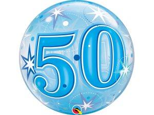 """22"""" bublina - Modré narozeniny 50"""