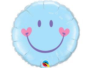"18"" fóliový balónek - Sladký úsměv - modrý"