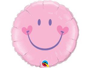 """18"""" fóliový balónek kruh - Sladký úsměv - růžový"""