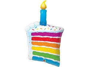 """42"""" fóliový balónek - Duhový dort a svíčka (102cm)"""