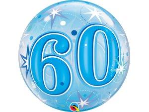 """22"""" bublina - Modré narozeniny 60"""