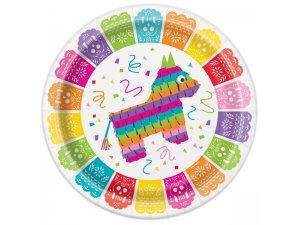 "Talířky papírové ,,Mexická Fiesta"" 23cm, 8ks"