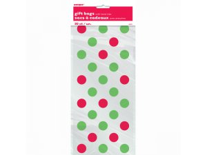 """Celofánový pytlík ,,Červeno-zelené puntíky"""" 20 ks - 62067 2.jpg"""