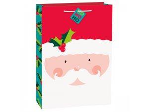Taška dárková velká - Holly Santa
