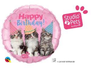 """18"""" kruh - Narozeninové kočky"""