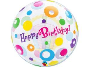 """22"""" bublina - Narozeninové puntíky a Cupcake"""