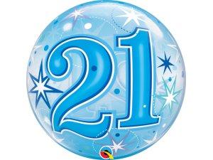 """22"""" bublina - Modré narozeniny 21"""