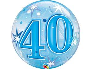 """22"""" bublina - Modré narozeniny 40"""