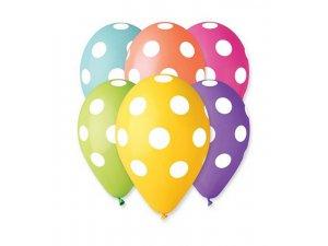 Balónek pastel 30 cm puntík potisk (100ks/bal)