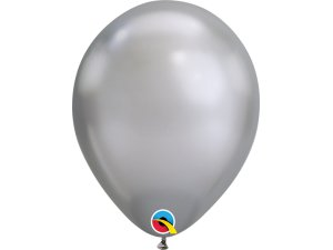 Balónek Qualatex CHROME 18cm - stříbrný 100ks