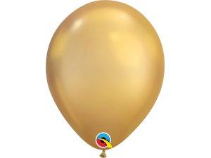 Balónek Qualatex CHROME 18cm - zlatý 100ks
