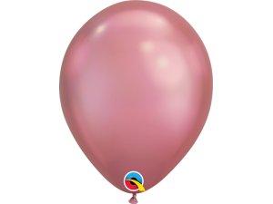 Balónek Qualatex CHROME 18cm - růžový 100ks