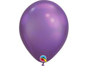 Balónek Qualatex CHROME 18cm - fialový 100ks