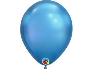 Balónek Qualatex CHROME 18cm - modrý 100ks