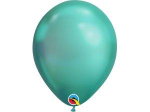 Balónek Qualatex CHROME 18cm - zelený 100ks