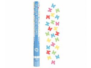 Konfety vystřelovací barevní motýlci  60 cm