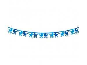 Girlanda papírová - Kočárky modrá 360x18x18cm