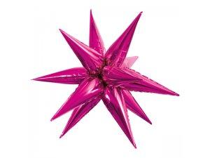 Fóliový balónek Hvězda 3D - růžová 70cm