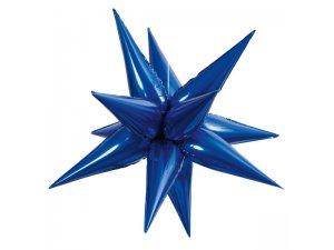 Fóliový balónek Hvězda 3D - modrá 70cm