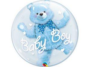 "24"" dvojbublina - BABY medvídek - modrá"