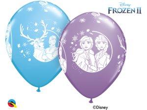 """12"""" Balónky Qualatex Disney Ledové království 2 (6ks v balení)"""